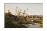 The Watering Place Giclee Print by Henri-Joseph Harpignies