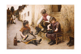 Daddy's Boots, 1892 Giclee Print by John White