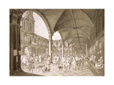Interior of the Royal Exchange, London, 1788 Giclee Print by Francesco Bartolozzi