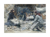 The Stone Breakers, 1897 Giclee Print by Adolf Maennchen