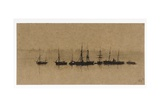 Boats at Anchor in an Estuary, 1892 Giclee Print by John Atkinson Grimshaw