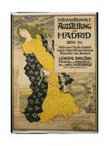 Poster Advertising 'Internationale Austellung Zu Madrid', 1893 Giclee Print by Eugene Grasset