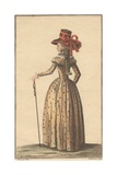 Fashion Illustration, 1793 Giclee Print by Claude Louis Desrais