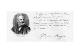 Victor Hugo's Dedication to England of His Book on Shakespeare, C.1864 Giclee Print by Victor Hugo
