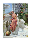 A Restful Moment by the Lion Fountain at the Alhambra, Spain, 1894 Giclee Print by Margaret Murray Cookesley