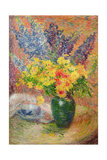 Delphiniums and Chrysanthemums Giclee Print by Anna Boch
