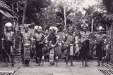 Dayak Men Dressed as Warriors, Sarawak, Malaysia, C.1940 Photographic Print