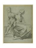Mother and Child Giclée-tryk af Bartolomeo Schedoni