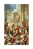 Robert of Anjou Constructing the Church of Santa Chiara, Naples Giclee Print by Francesco de Mura