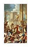Robert of Anjou Constructing the Church of Santa Chiara, Naples Giclee Print by Francesco de Mura