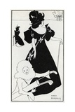 Pierrot as Caddie' Design for a Golf Club Card, 1894 Giclee Print by Aubrey Beardsley