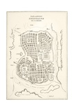 Plan of Ancient Jerusalem as it Was Presumed to Be at the Time of Jesus Christ Giclee Print