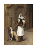 Arnaute with Two Whippets, 1867 Giclee Print by Jean Leon Gerome