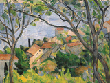 View of L'Estaque Through the Trees, 1879 Reproduction procédé giclée par Paul Cézanne