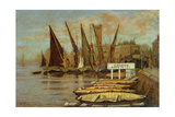 Greaves Boat Yard, Chelsea, 1858 Giclee Print by Walter Greaves