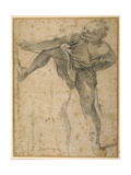 Man Pulling on a Rope, His Left Leg Rehearsed a Second Time Giclee Print by Lodovico Carracci
