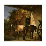 A Barnyard with Two Plough Horses, 1649 Giclee Print by Paulus Potter