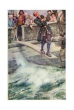 Walking the Plank', Illustration from 'The Master of Ballantrae' by Robert Louis Stevenson Giclee Print by Walter Stanley Paget