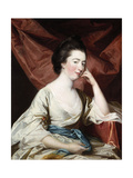 Portrait of a Lady in a White Dress and Blue Sash Giclee Print by Francis Cotes