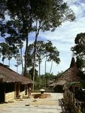 Dayak Bidayuh Longhouse , Sarawak, Malaysia Photographic Print
