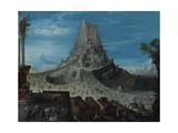 Der Turmbau Zu Babel Giclée-Druck von Hendrick Van Cleve