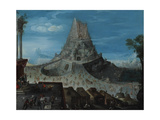The Tower of Babel Giclee Print by Hendrick Van Cleve