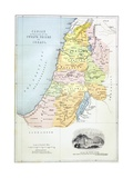 Canaan as it Was Divided Between the Twelve Tribes of Israel Impressão giclée