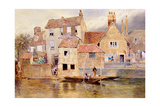 The Old Cottages at Eton Giclee Print by Myles Birket Foster