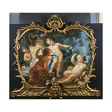 An Overdoor with Putti Disporting Giclee Print by Francesco de Mura