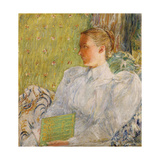 Portrait of Edith Blaney (Mrs. Dwight Blaney) 1894 Giclee Print by Childe Hassam