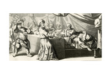 Jesus Invited to Dinner with the Pharisee, Illustration from the Gospel of Saint Luke, Chapter… Giclee Print by Gabriel Francois Louis Debrie