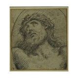 Head and Shoulders of the Living Christ Crucified Giclee Print by Guido Reni