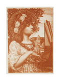 Saint Cecilia Giclee Print by Henry Ryland