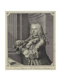 Francesco Ma Veracini, Engraved by J. June (Fl.C.1740-70), 1744 Giclee Print by Franz Ferdinand Richter