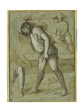 An Executioner About to Decapitate a Bearded Saint Giclee Print by Girolamo Romanino