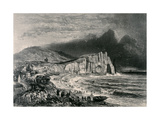 Etretat, Illustration from the Chapter on Normandy from 'La Normandie Illustree', Engraved by… Giclee Print by Felix Benoist