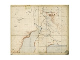 Map of Sir Samuel Baker's Route from Gondokoro to Lake Albert, 1864 Giclee Print by Sir Samuel Baker