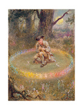 The Fairy Ring- the Enchanted Piper, C.1880 Gicléedruk van William Holmes Sullivan