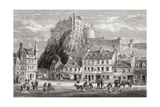 Castle and Grassmarket, Edinburgh, Scotland, from 'scottish Pictures Drawn with Pen and Pencil',… Giclee Print