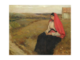 Woman in a Landscape Giclee Print by  Jean-Charles Cazin