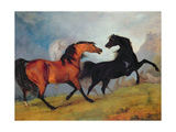 Horses Fighting Giclee Print by Sawrey Gilpin