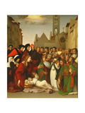 St. Zenobius Raising a Boy from the Dead Giclée-tryk af Ridolfo Ghirlandaio