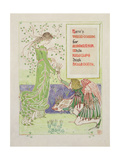 Here's Venus' Combe for Maidenhair, 1899 Giclee Print by Walter Crane