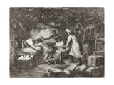 Death of Dr. Livingstone in the Village of Tchitammbo, Africa, in 1873, Illustration from 'The… Giclee Print by Edouard Riou
