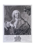 Portrait of German Philosopher Christian Wolff, Leipzig, 1755 Giclee Print by Johann Martin Bernigeroth