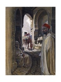 A Street in Figuig, Morocco, C.1890 Giclee Print by Harry Hamilton Johnston