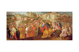 Adoration of the Magi, known as the 'Benintendi Epiphany' Giclée-tryk af Jacopo Pontormo
