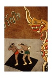 Decoration on an Ox Cart Depicting Muay Thai Giclee Print