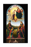 Coronation of the Virgin Giclee Print by Lorenzo di Credi