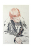 The Young Connoisseur Giclee Print by Paul Cesar Helleu